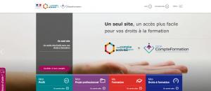 capture d'écran de la plateforme du compte personnel d'activité